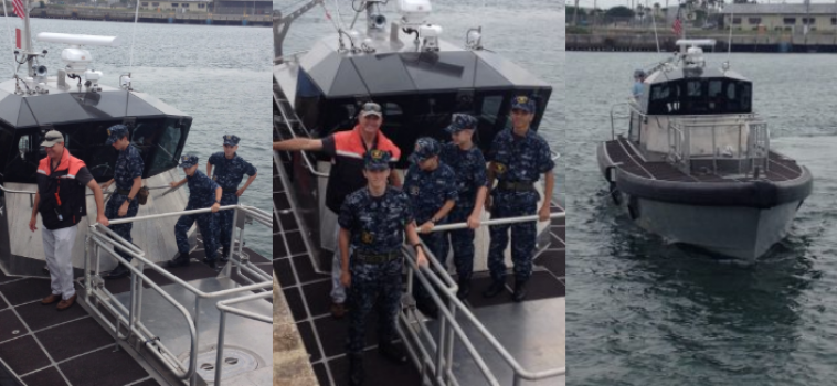 Naval Sea Cadets Learn About Piloting